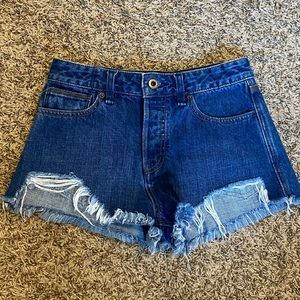 Free people distressed high rise size 26 shorts